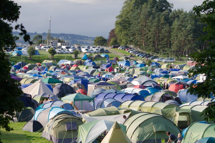 Tents pitched up at Belladrum Festival, Scotland