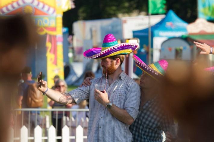 Photo time at Belldrum festival, Scotland