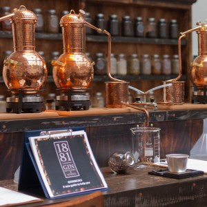 1881 distillery, gin school experience. Scottish Borders