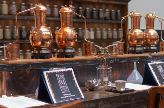 1881 distillery, gin school experience. Scottish Borders