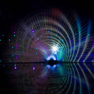 Enchanted Forest. Photos of multi-coloured swirls of light