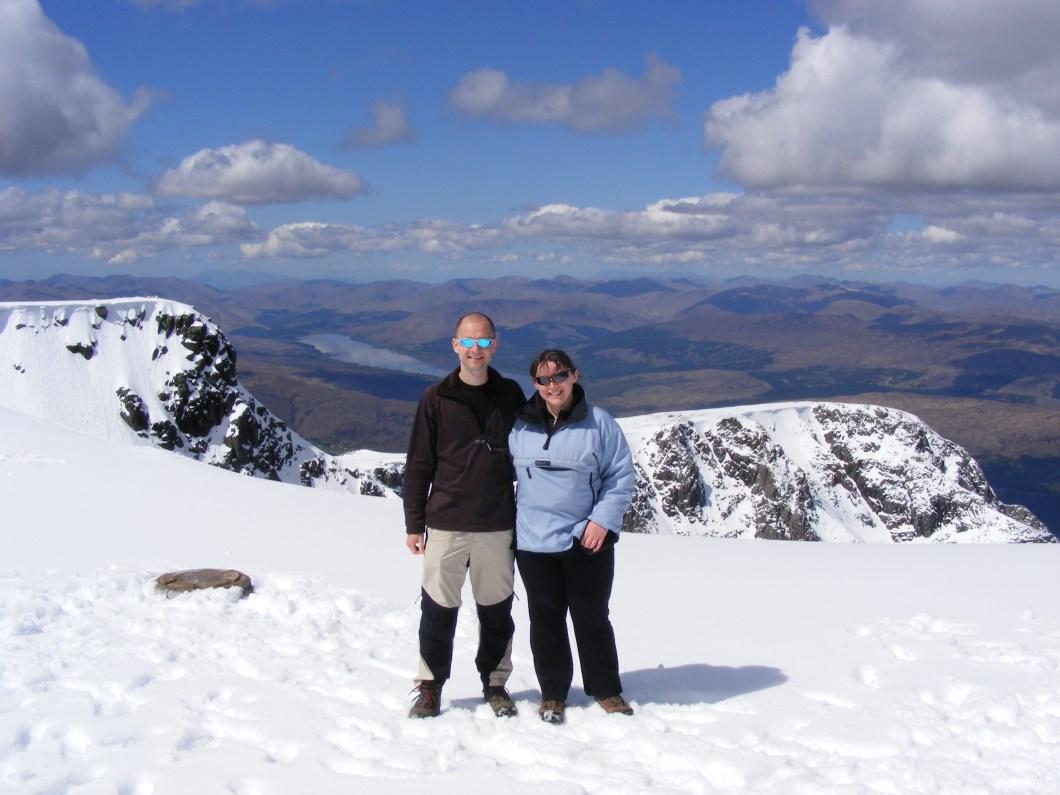 Ben Nevis summit with snow