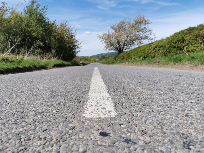 Road markings - Little walks from home during lockdown