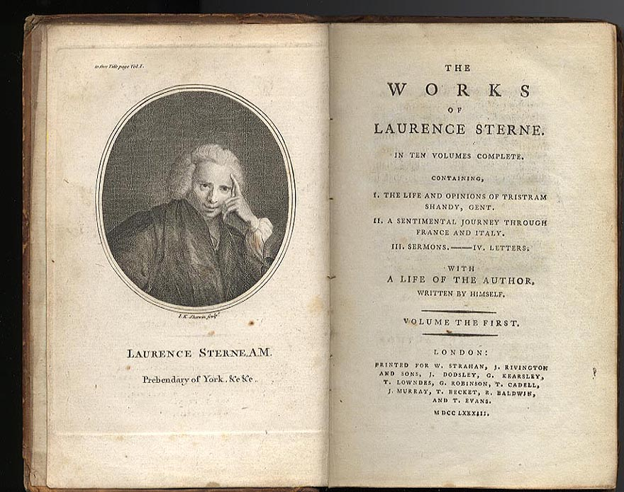 Laurence Sterne The Life and Opinions of Tristram Shandy typographic experimentation