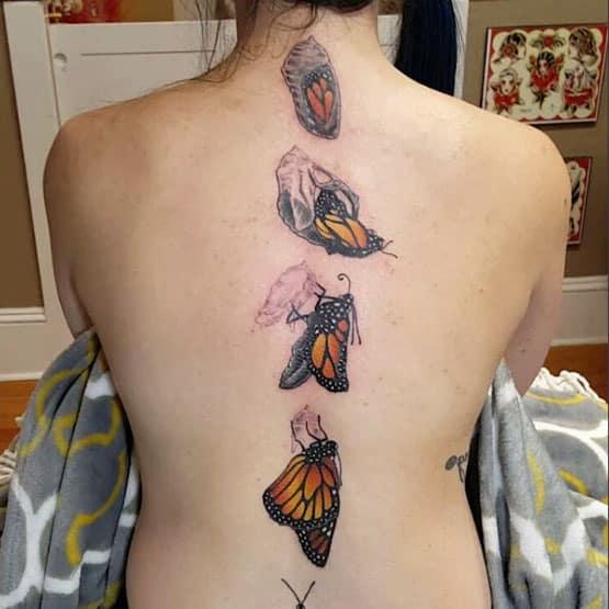 Spine Tattoos Pain
