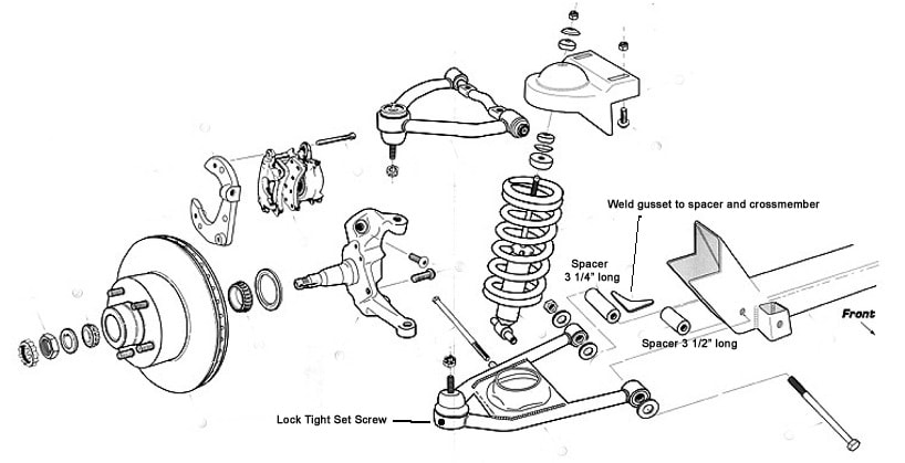 Hub-to-Hub Mustang II IFS front suspension, Hub to Hub IFS,