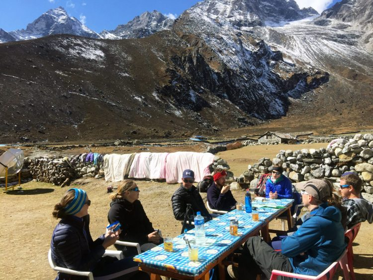 How much to budget for food on the Gokyo Lake Everest Base Camp Trek