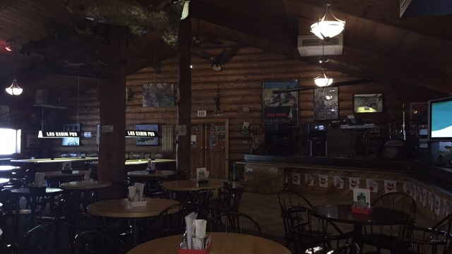 Interior Log Cabin Pub, Spences Bridge, BC