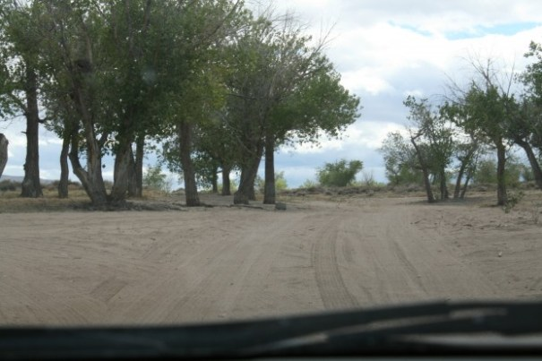 Driving out, the pathway was so sandy and deep in some places, went about a mile on just sand.