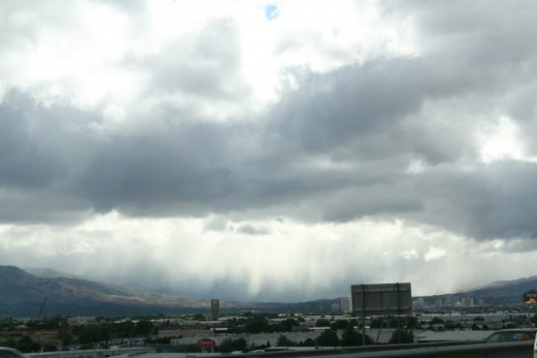 Returning to Sparks ran into a little rain cell.  Nice to see.