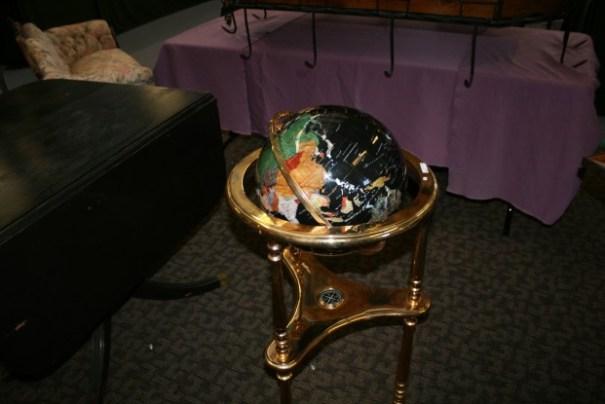 Stone globe.