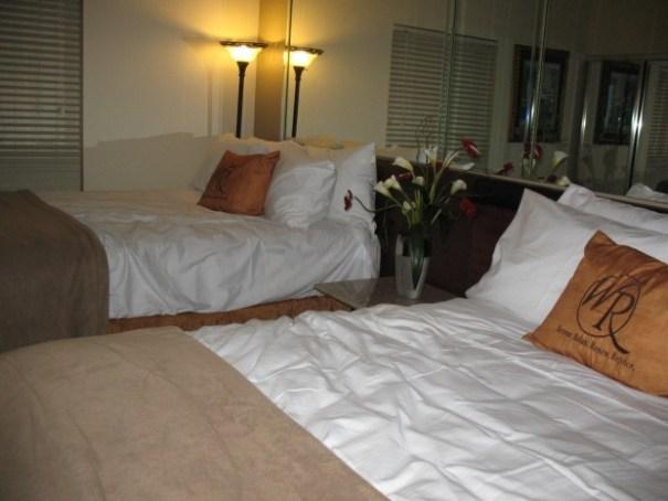 Mock second bedroom.