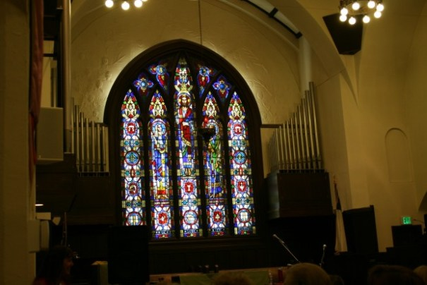 Sanctuary where the musical performance was presented.
