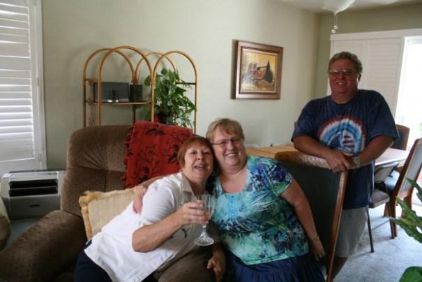 Sister Sharon, friend Carol, friend and Carol's son, Ed.
