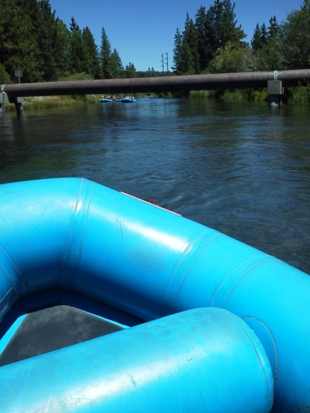 Pipe across the Truckee River