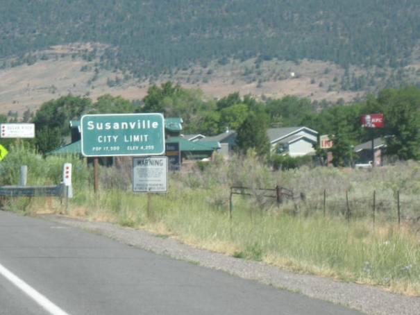 Susanville City Limit Sign.