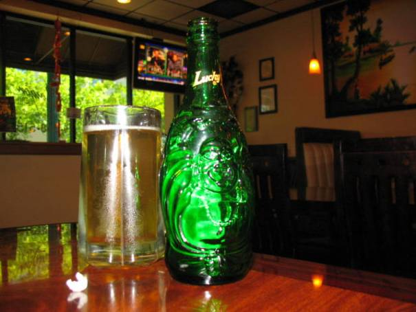 Lucky Buddha Beer Bottle, a very smooth beer.