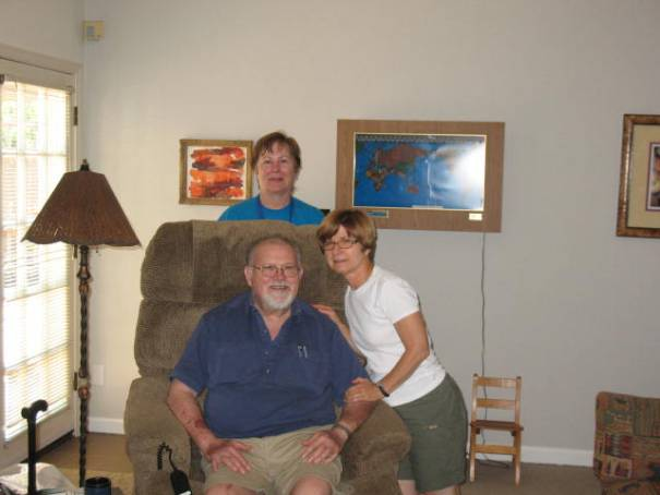 Edie, Don and Maureen, (Mo).  Farewell photo, sad to say goodbye to dear folks.