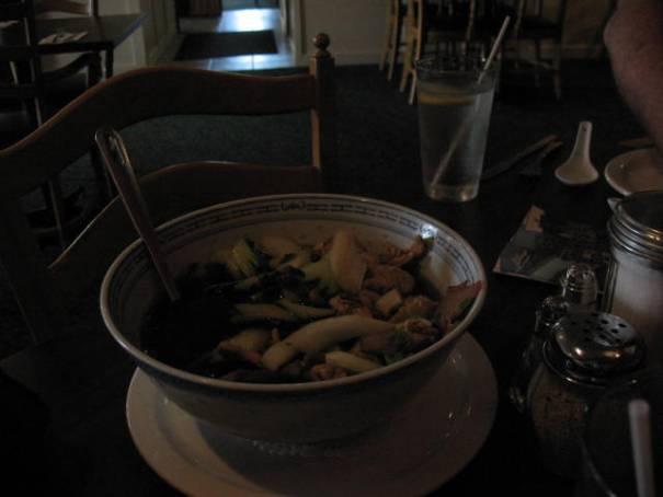 War Won Ton soup.  Very tasty.