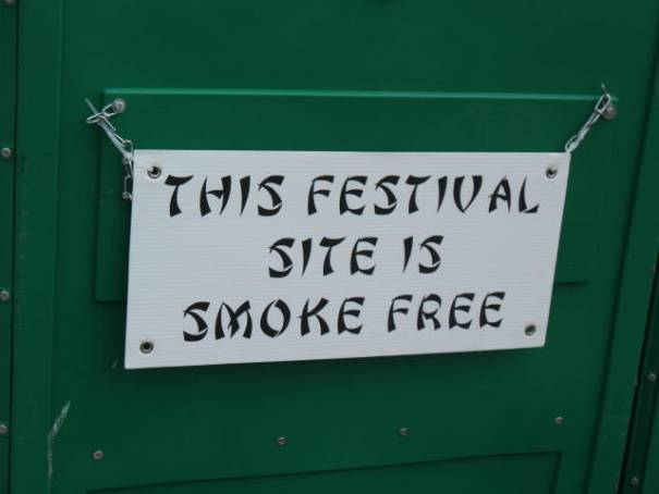 The whole festival is smoke free.  Very nice.