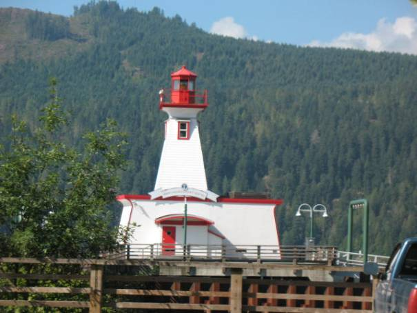 Light house in the inlet at Port Alberni.