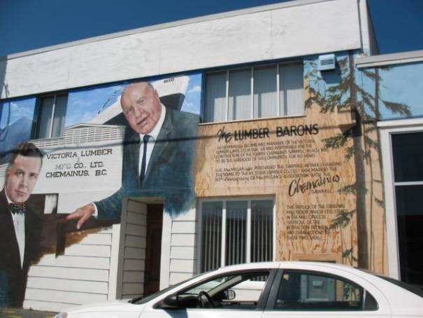 Lumber Barons mural.