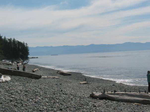 French Beach with Washington State in the background and the Strait of Juan de Fuca in between