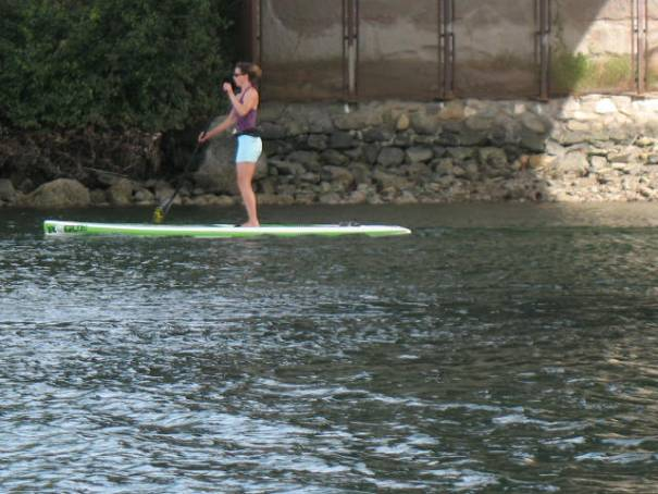 Paddle boater.  Appears to be a good exercise for tightening up the glutes!
