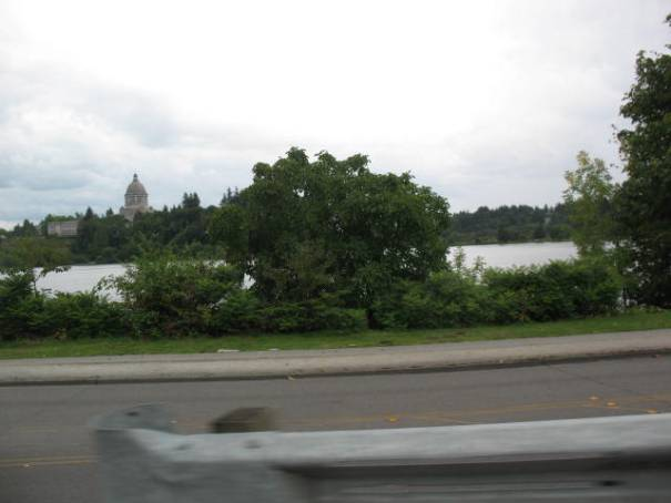 Capitol in Olympia, Washington.  our first glimpse.
