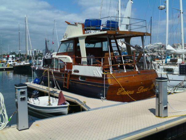 Beautiful old Chris Craft Boat.