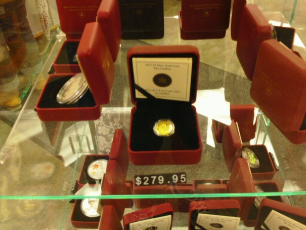 For sale at the post office, $5.00 Gold Coin.