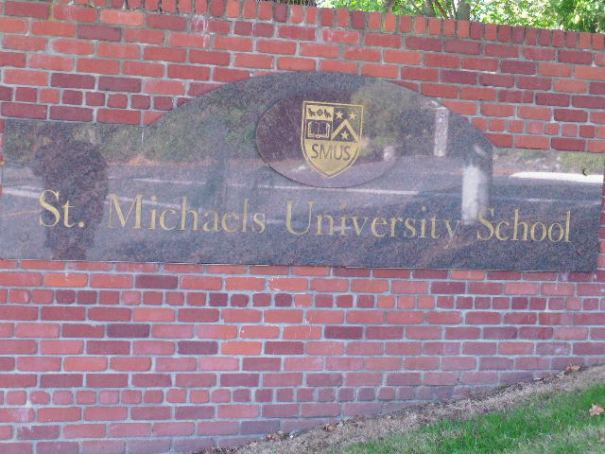 Not far from our temporary home.  St. Michael's University School.