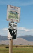 Sawtooth scenic byway sign.