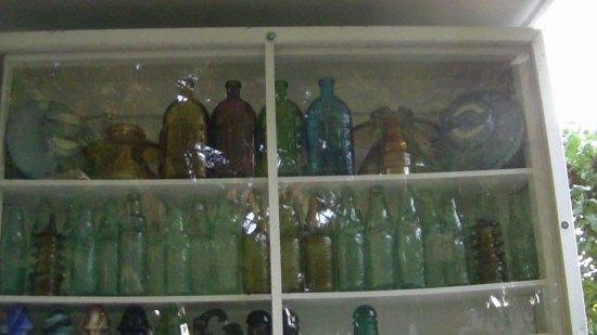 Bottles and insulators.