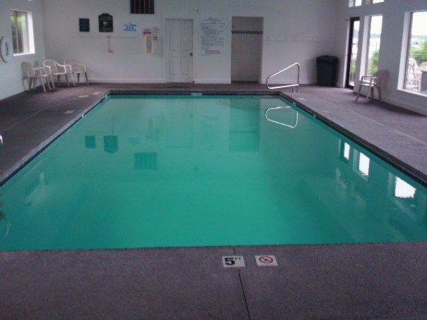 The pool is nice but it is small.  The deep end is 5 feet which is hard after the last resort having a 10 foot deep end.  A completely different swimming experience.