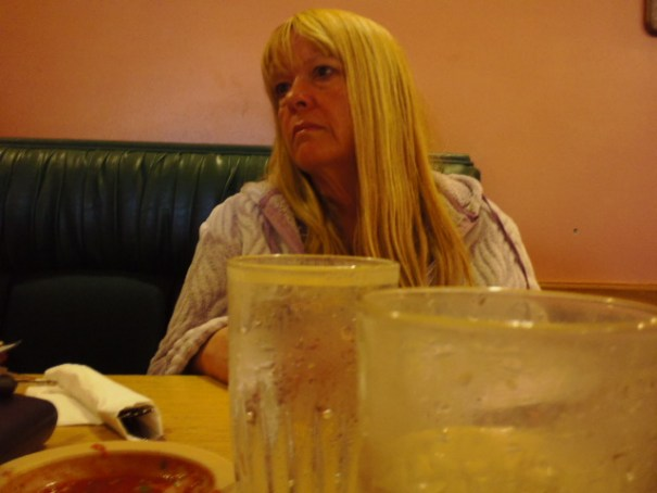 Stacey at lunch.