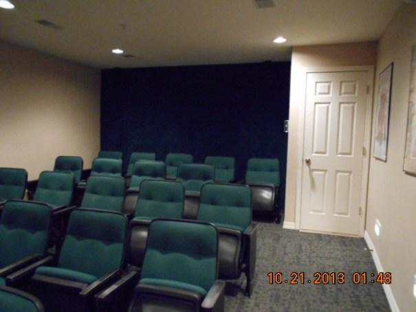 Silverleaf Holiday Hills activity center movie room.