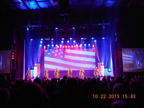 A touching and patriotic performance.  Edie and I got to stand as veterans and get applauded.  Nice touch.