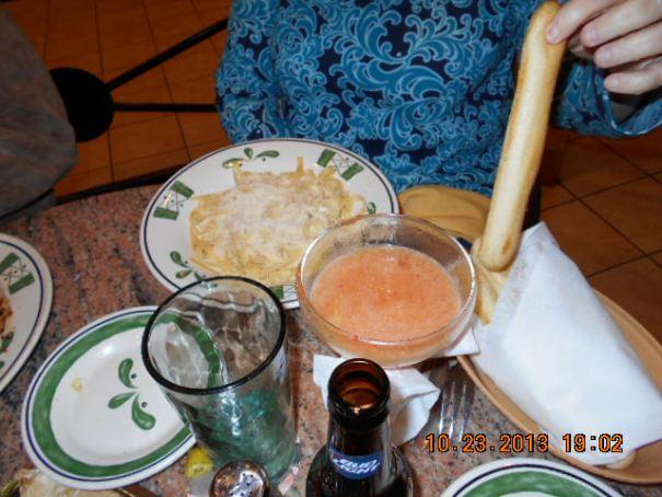 Edie's fettuccine Alfredo.