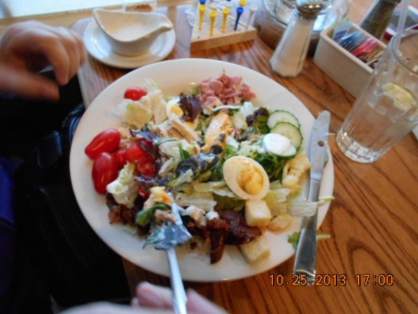 Edie's chef salad, she totally copycatted me.