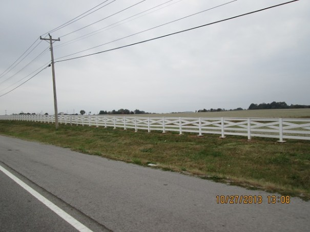 Miles of fence like this along the countryside.