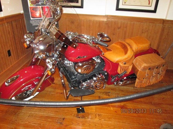 Beautiful Indian Motorcycle, manufactured in Gilroy, California.