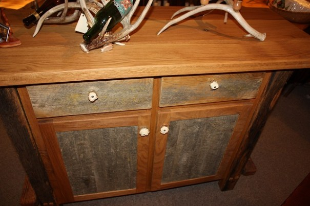 Chest with antler knobs.