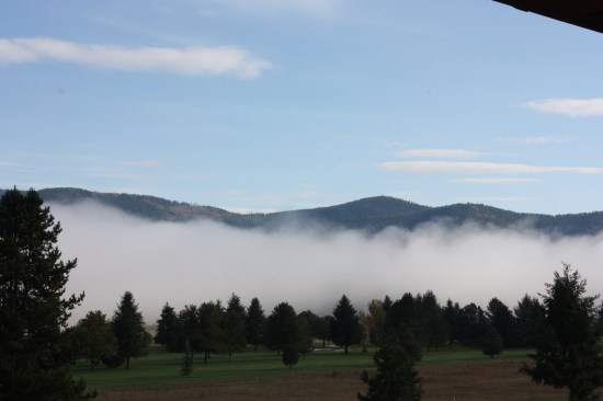 We woke up to some very welcome blue sky in Blanchard this morning.