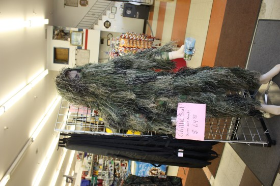 Ghillie suit for Lex, better than camo!
