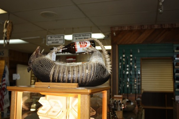 Armadillo bottle holder, makes me think of Jack Estep and a funny story he tells.