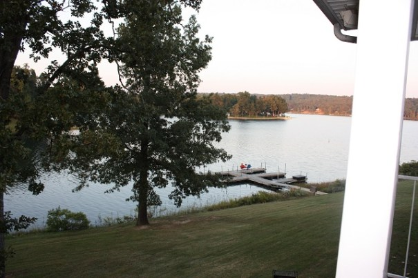 Lake view from our balcony.