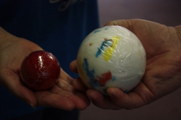 Lex was fascinated by the size of the jawbreakers.