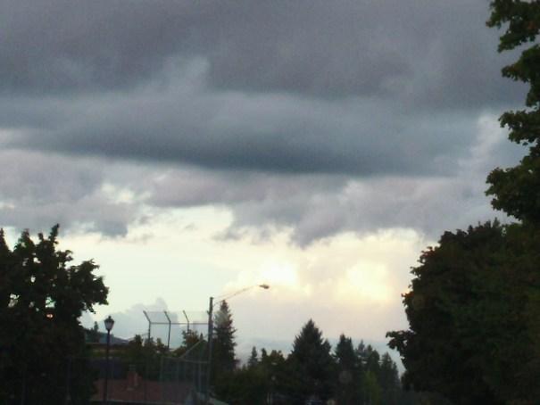 Turbulent sky.