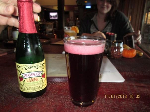 Edie's $7.00 Raspberry beer!